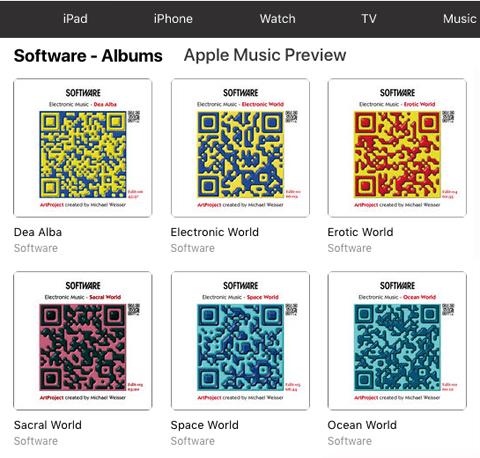 Michael Weisser - Software Music - Archiv der Cover, Alben
